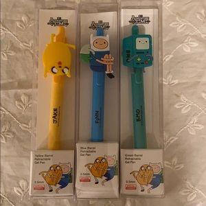 New adventure time characters gel pen set